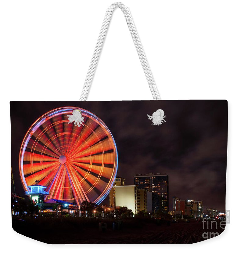 Skywheel Weekender Tote Bag featuring the photograph Skywheel by Jacque Weir