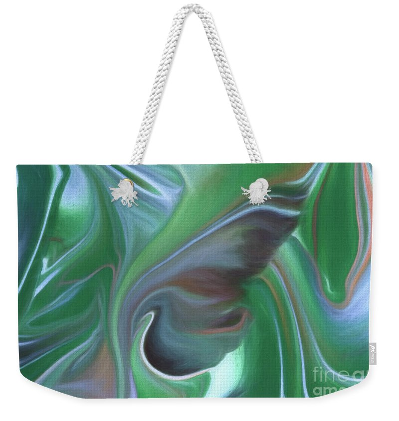 Abstract Weekender Tote Bag featuring the painting Sleep Softly by Patti Schulze