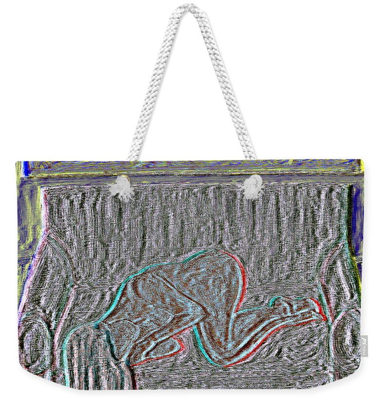 Sleeper Weekender Tote Bag featuring the painting Sleeper 2 by Patrick J Murphy