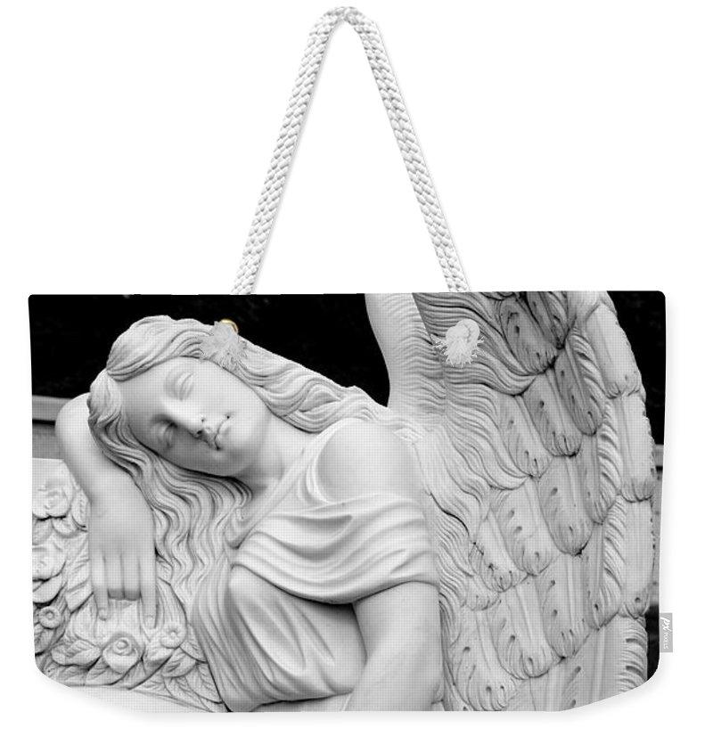 Angel Weekender Tote Bag featuring the photograph Sleeping Angel by Jean Haynes