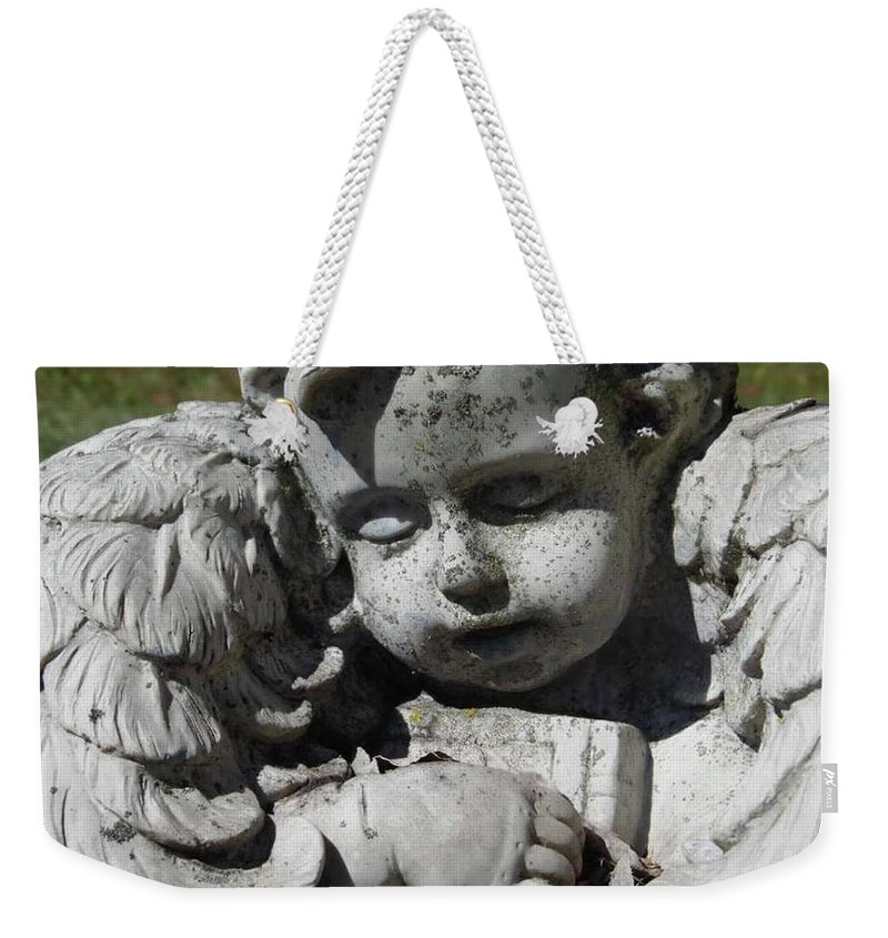 Weekender Tote Bag featuring the photograph Sleeping Angel by Jessica Murphy