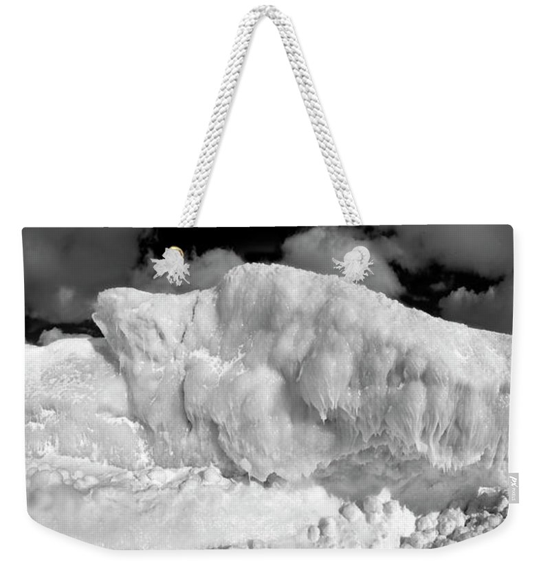 Photography Weekender Tote Bag featuring the photograph Sleeping Ice Giant by Frederic A Reinecke