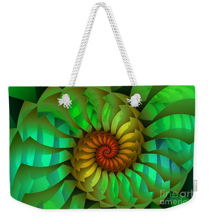Fractal Weekender Tote Bag featuring the digital art Sleeping Spring by Jutta Maria Pusl