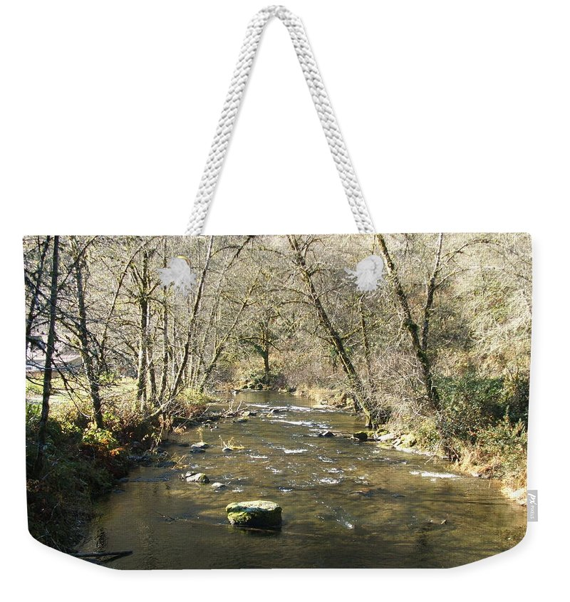 River Weekender Tote Bag featuring the photograph Sleepy Creek by Shari Chavira