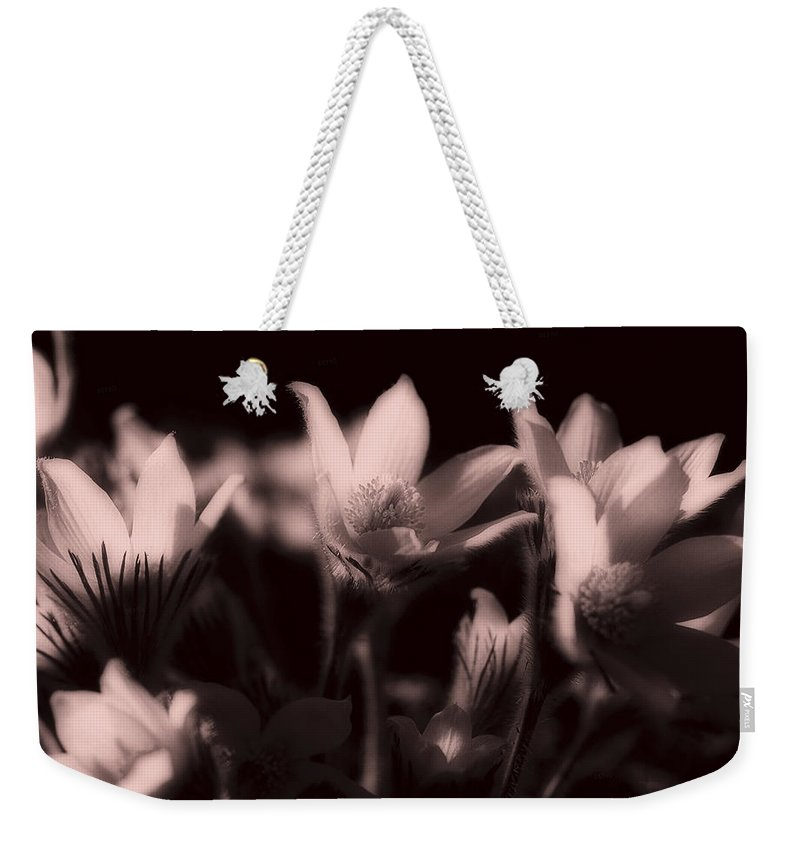 Flowers Weekender Tote Bag featuring the photograph Sleepy Flowers 2 by Marilyn Hunt