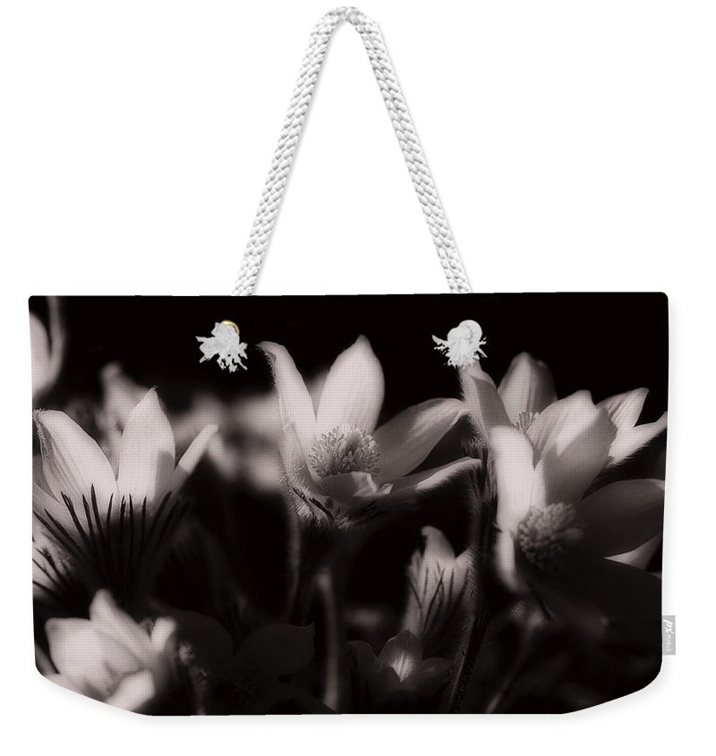 Flowers Weekender Tote Bag featuring the photograph Sleepy Flowers by Marilyn Hunt