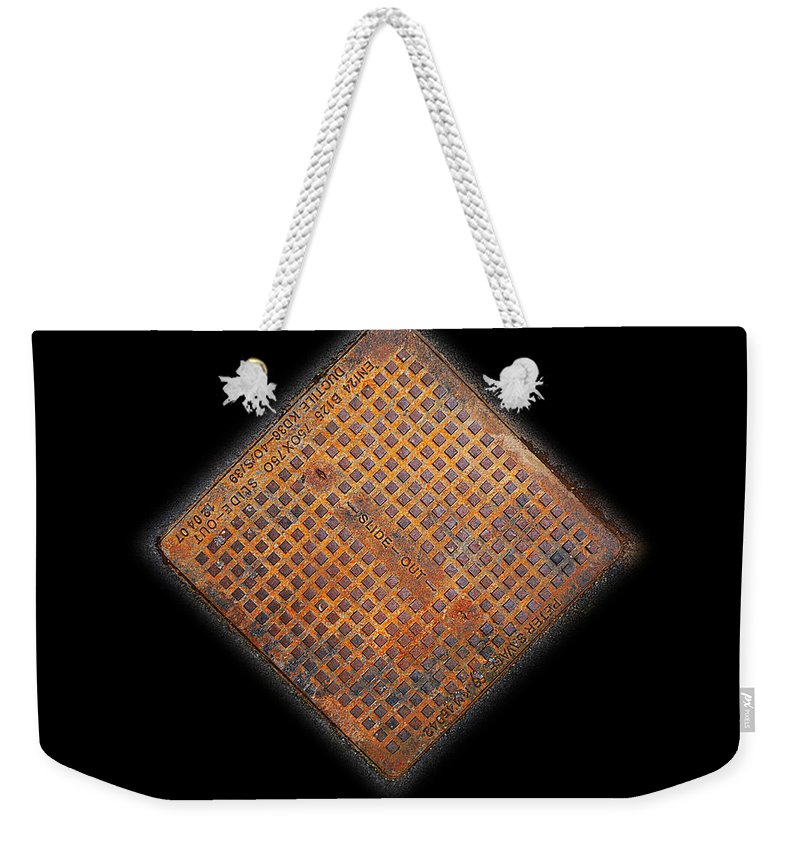 Erotic Weekender Tote Bag featuring the photograph Slide Out by Charles Stuart