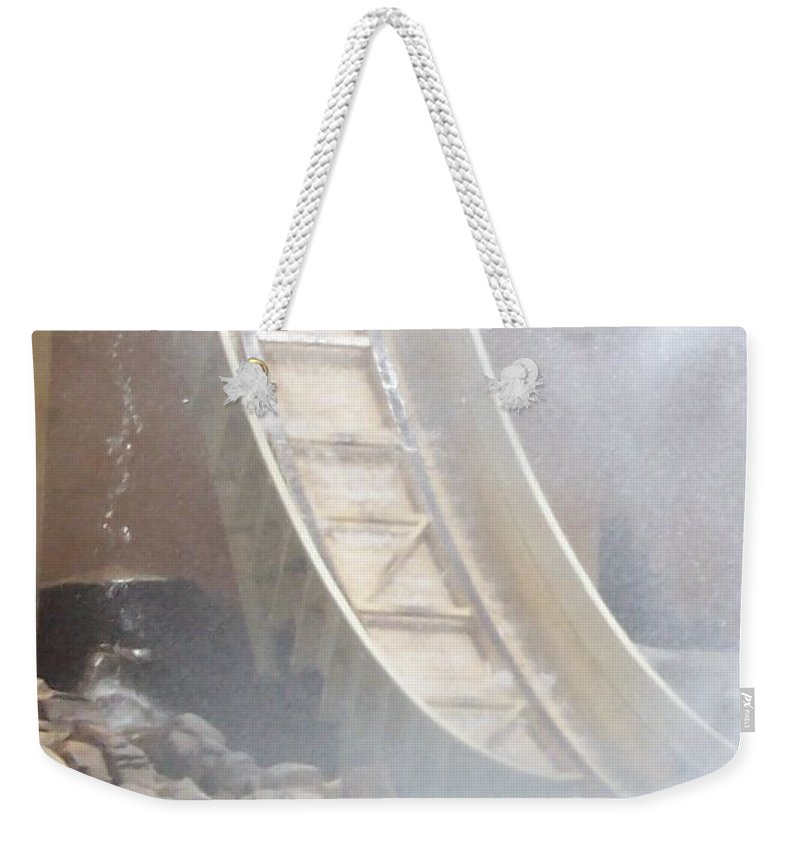 Slide Weekender Tote Bag featuring the photograph Slide Splash by Pharris Art