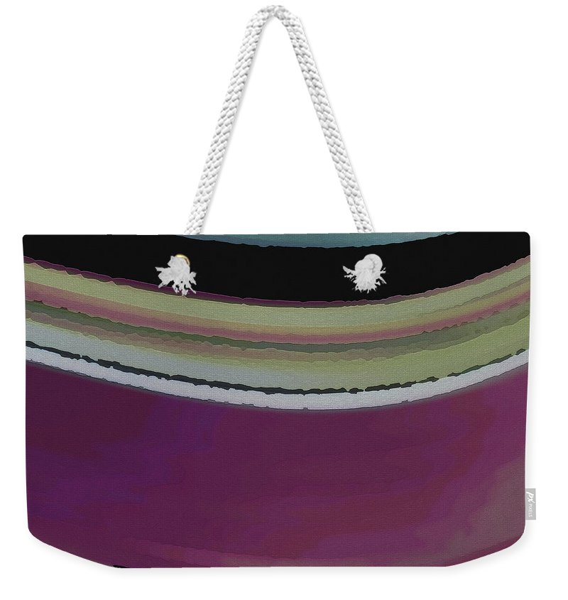 Abstract Weekender Tote Bag featuring the digital art Slight Curve by Ruth Palmer