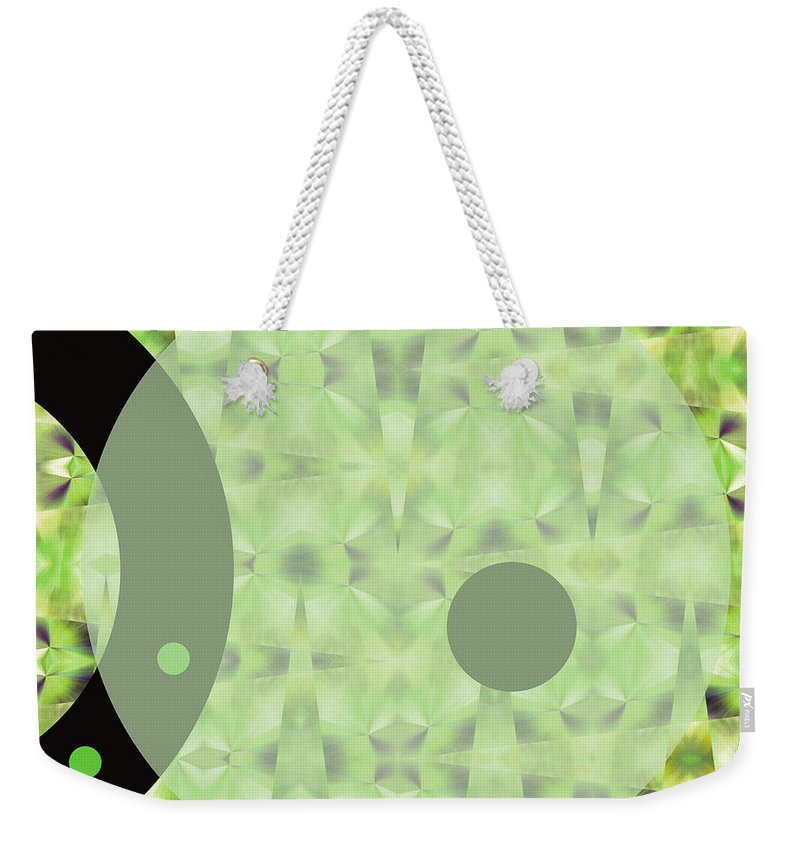 Abstract Weekender Tote Bag featuring the digital art Slow Fade by Ruth Palmer