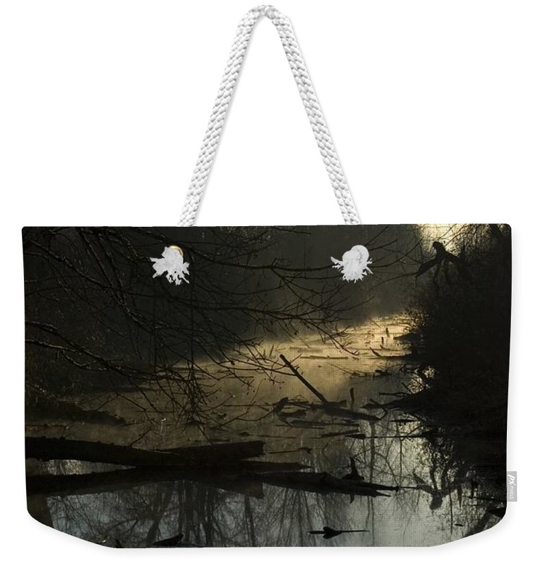 Water Weekender Tote Bag featuring the photograph Slue by Sara Stevenson