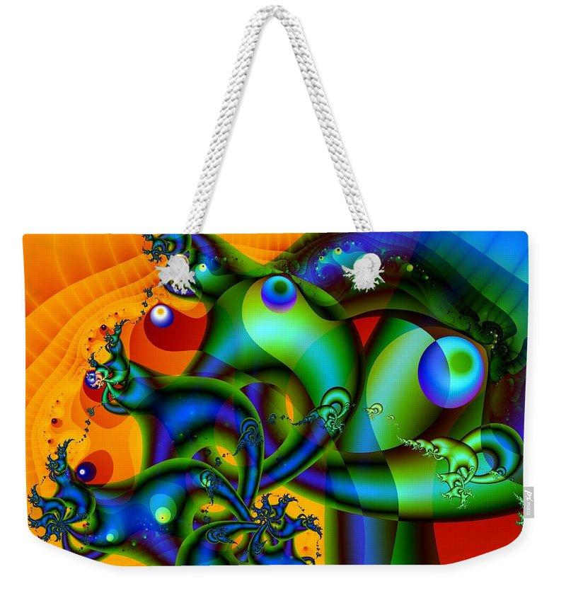 Slugs Weekender Tote Bag featuring the digital art Sluggish by Ron Bissett