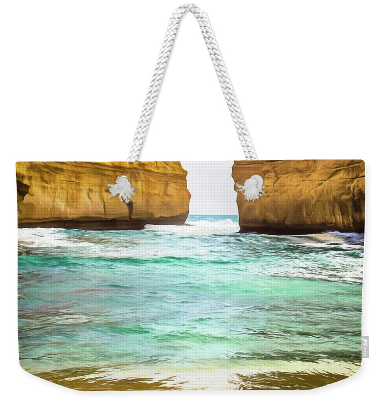 Beach Weekender Tote Bag featuring the photograph Small Bay by Perry Webster