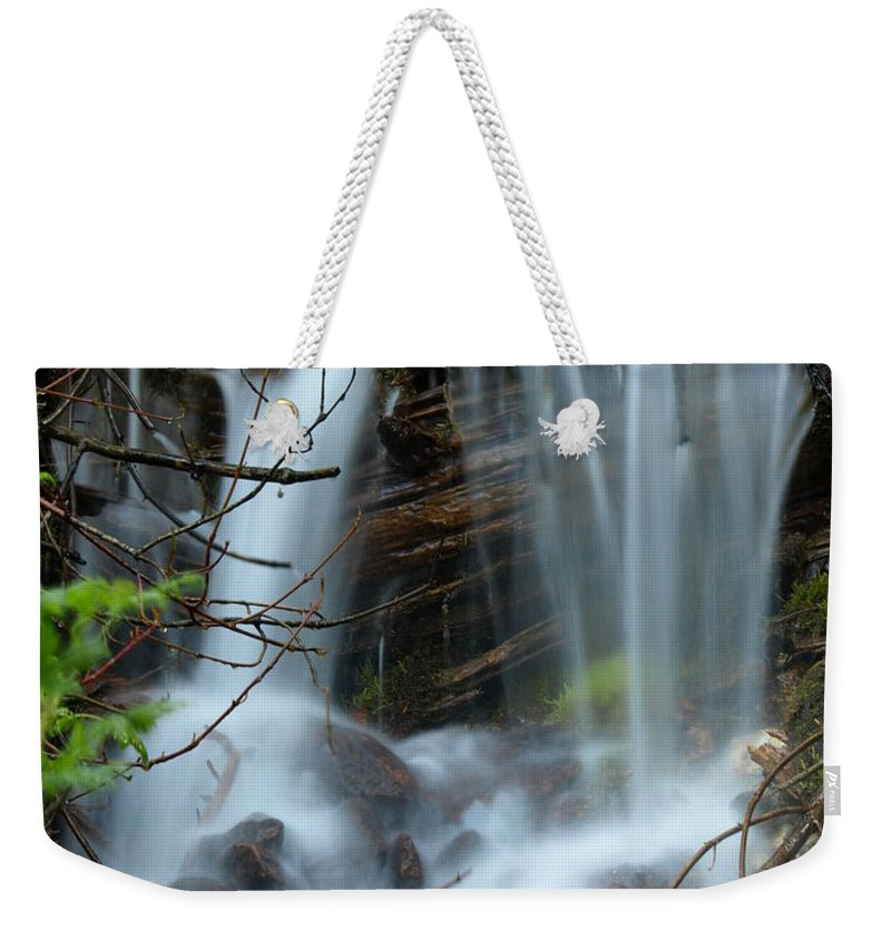 Water Weekender Tote Bag featuring the photograph Small Falls by DeeLon Merritt