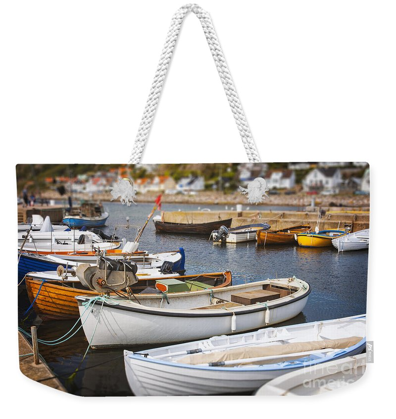 Molle Weekender Tote Bag featuring the photograph Small Fishing Boats by Sophie McAulay