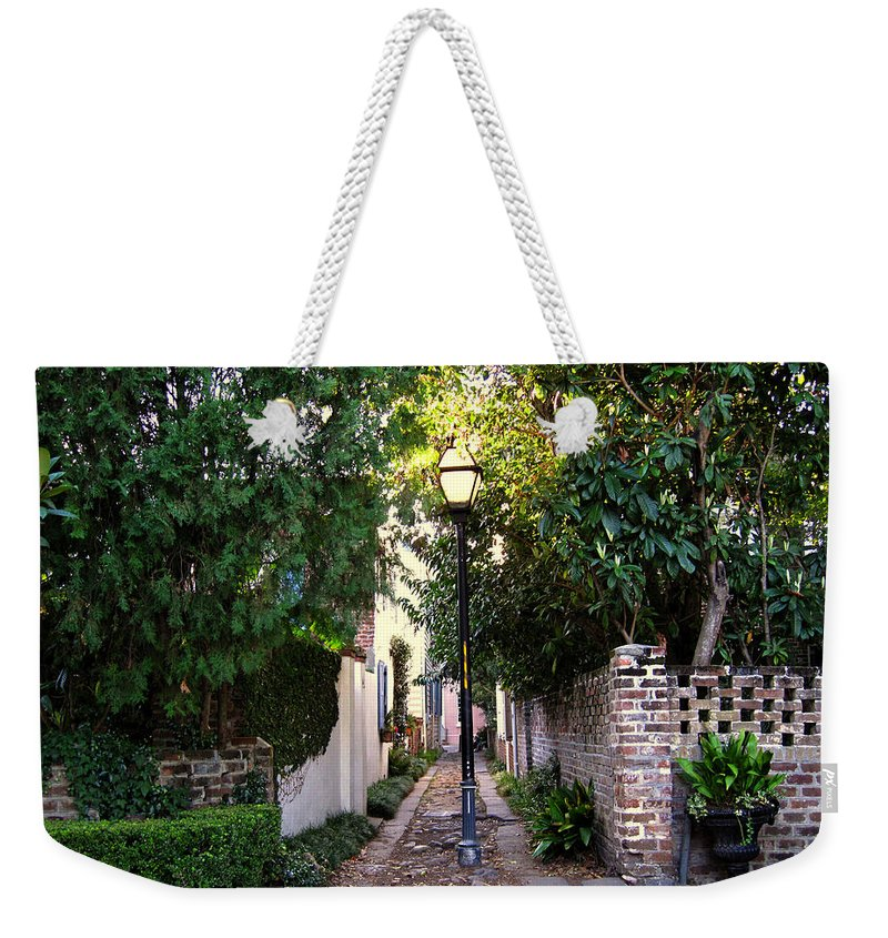 Lane Weekender Tote Bag featuring the photograph Small Lane In Charleston by Susanne Van Hulst