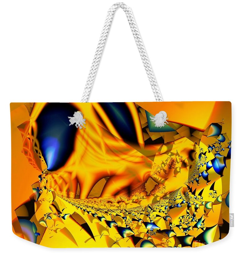Legs Weekender Tote Bag featuring the digital art Small Legs And Big Eyes by Ron Bissett