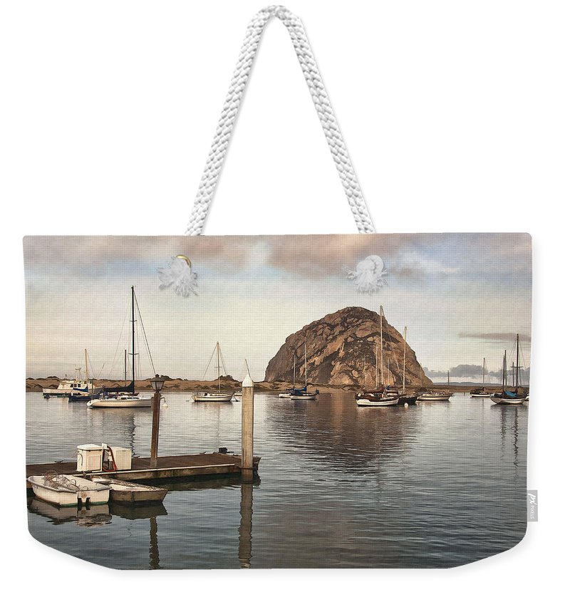 Pier Weekender Tote Bag featuring the digital art Small Pier by Sharon Foster