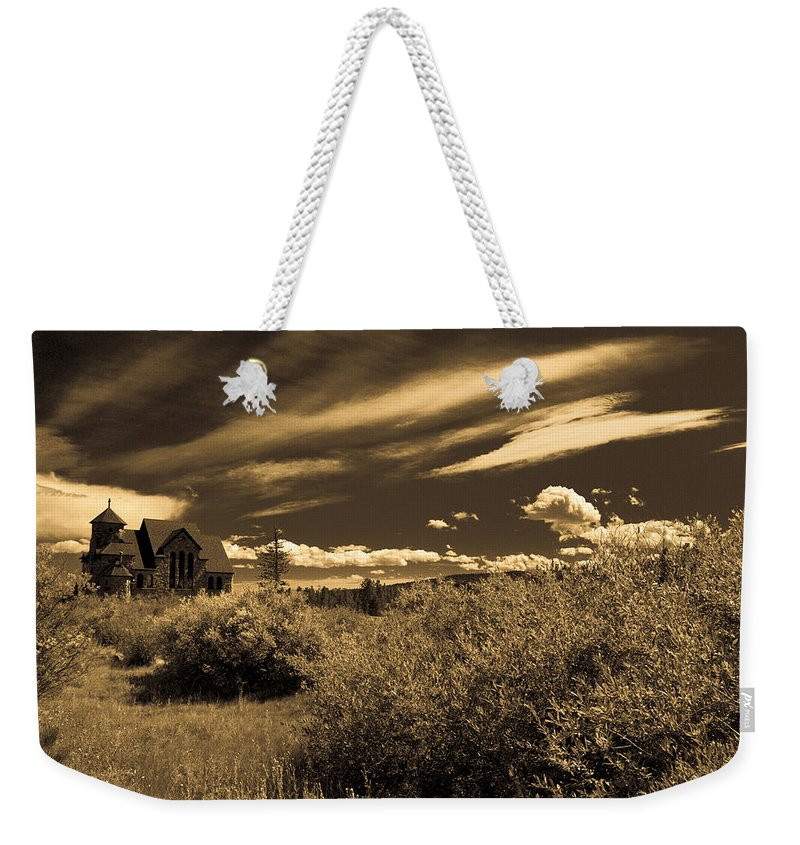 Church Weekender Tote Bag featuring the photograph Small Town Church by Marilyn Hunt