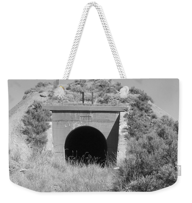 Pat Turner Weekender Tote Bag featuring the photograph Small Tunnel by Pat Turner