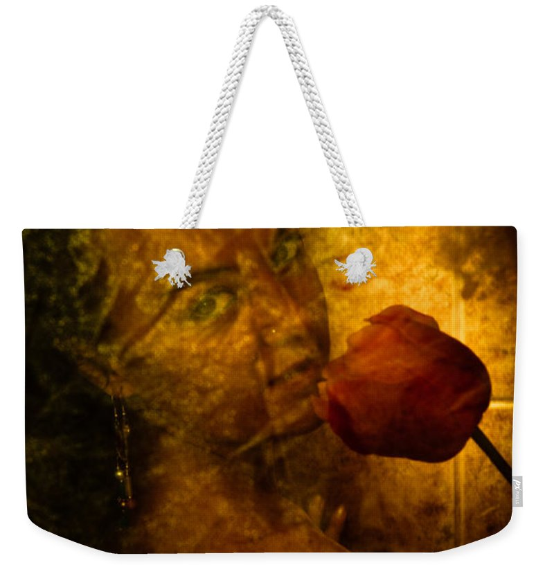 Flower Weekender Tote Bag featuring the photograph Smelling The Flowers by Scott Sawyer