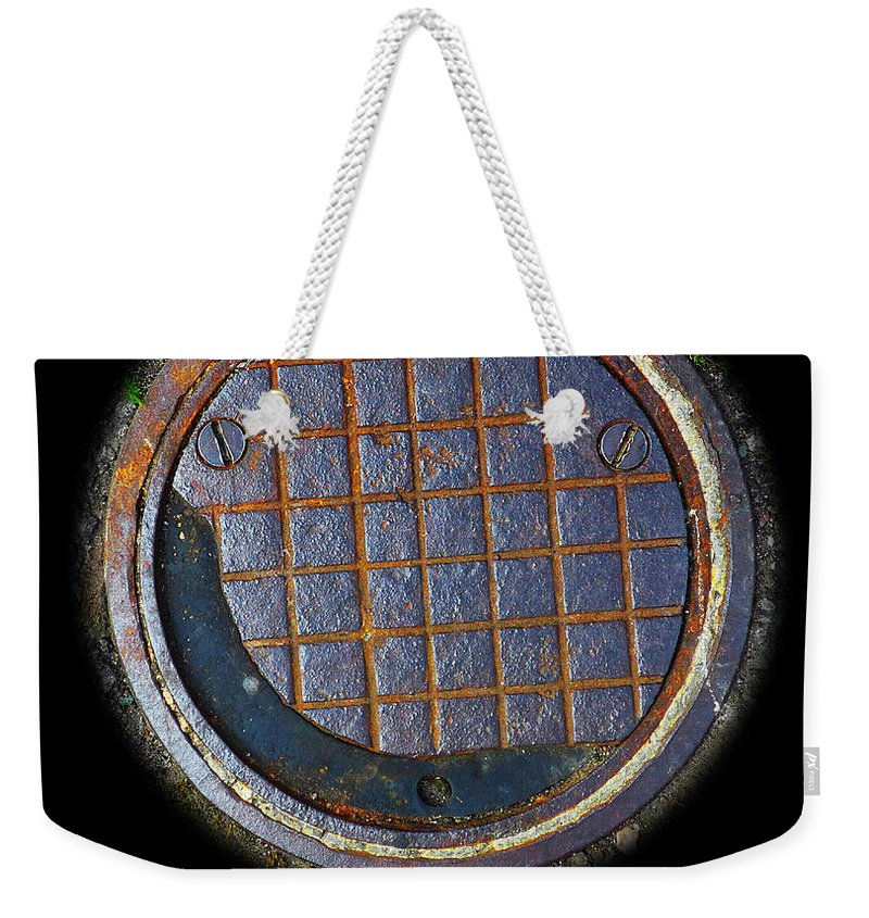 Smiley Weekender Tote Bag featuring the photograph Smiley Face by Charles Stuart