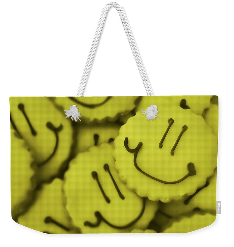 Cookie Weekender Tote Bag featuring the photograph Smiley Face by JAMART Photography