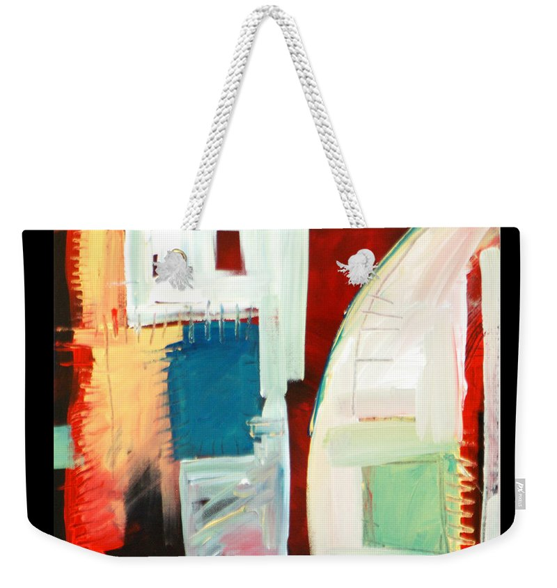 Color Weekender Tote Bag featuring the painting Smilin by Tim Nyberg