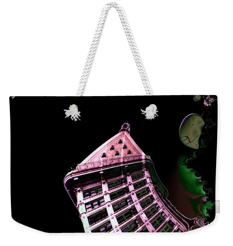 Seattle Weekender Tote Bag featuring the photograph Smith Tower Reflect 1 by Tim Allen