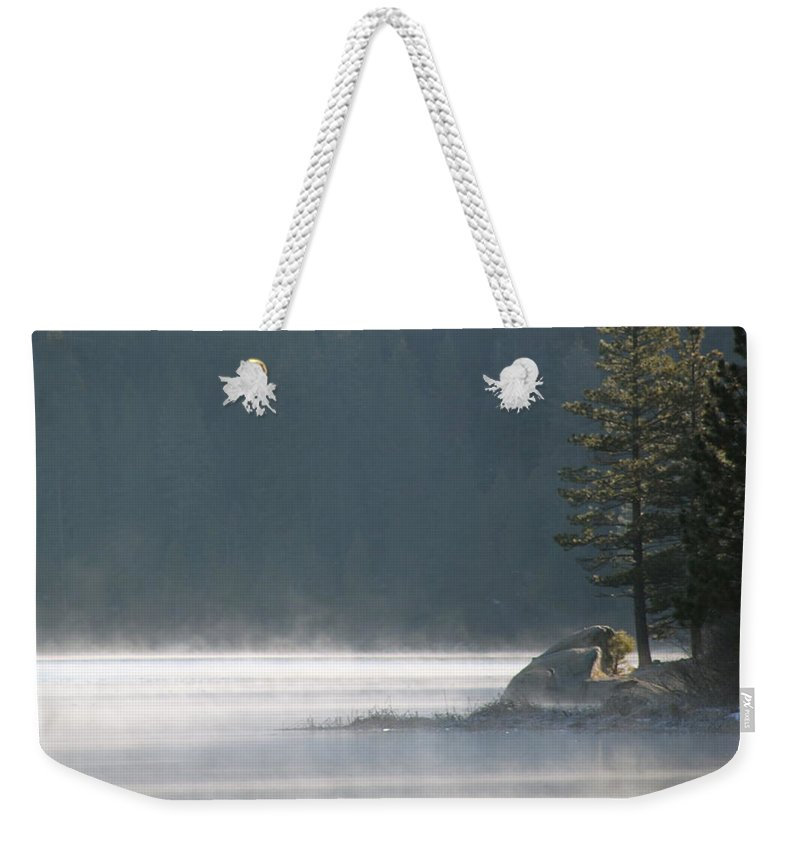 Steam Weekender Tote Bag featuring the photograph Smoke On The Water by Rose Webber Hawke