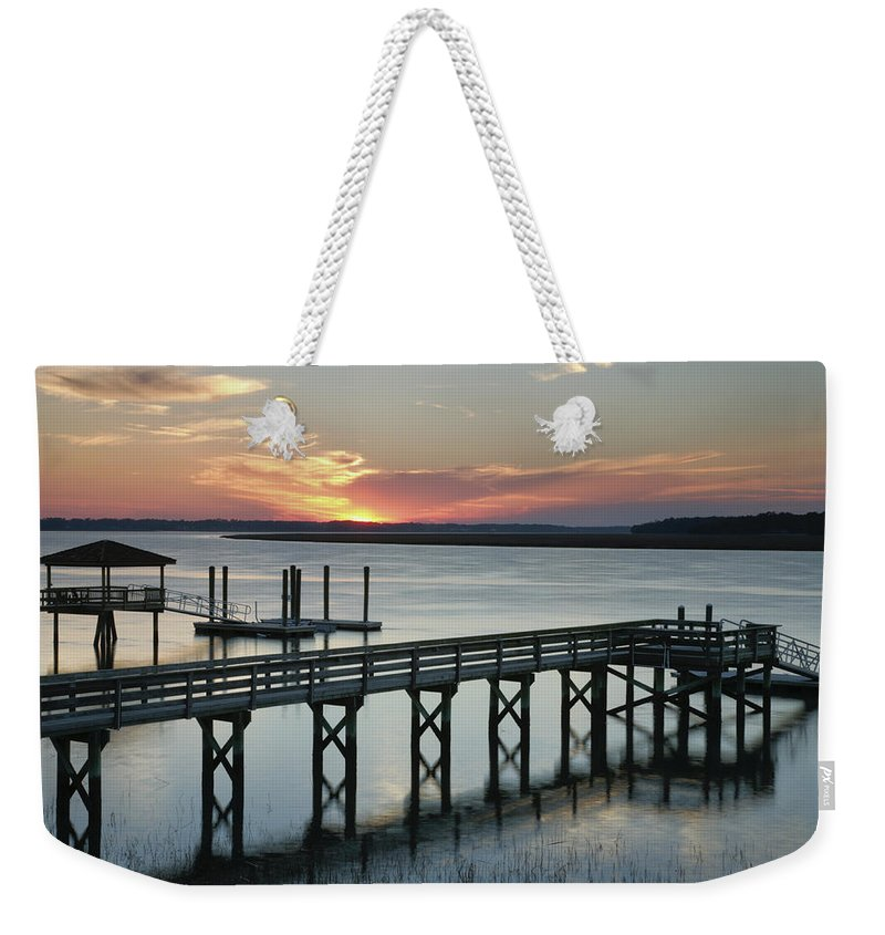 Sunset Weekender Tote Bag featuring the photograph Smoke Signals by Phill Doherty