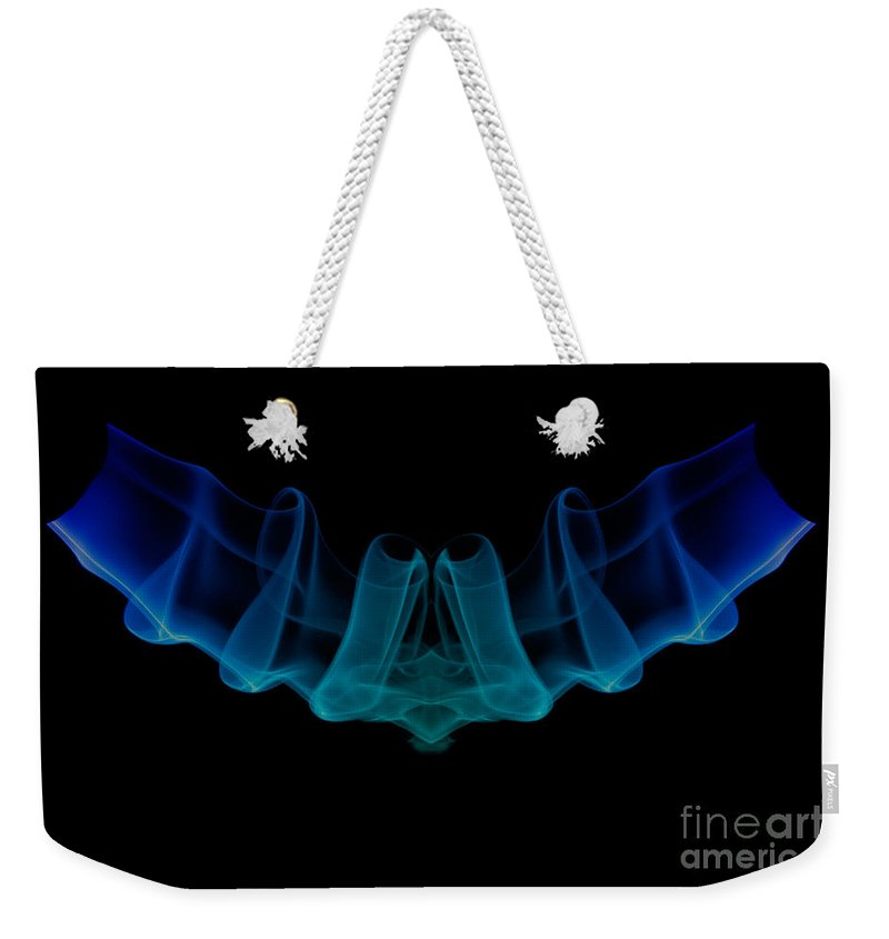 Abstract Weekender Tote Bag featuring the photograph smoke XIX ex-mb2 by Joerg Lingnau