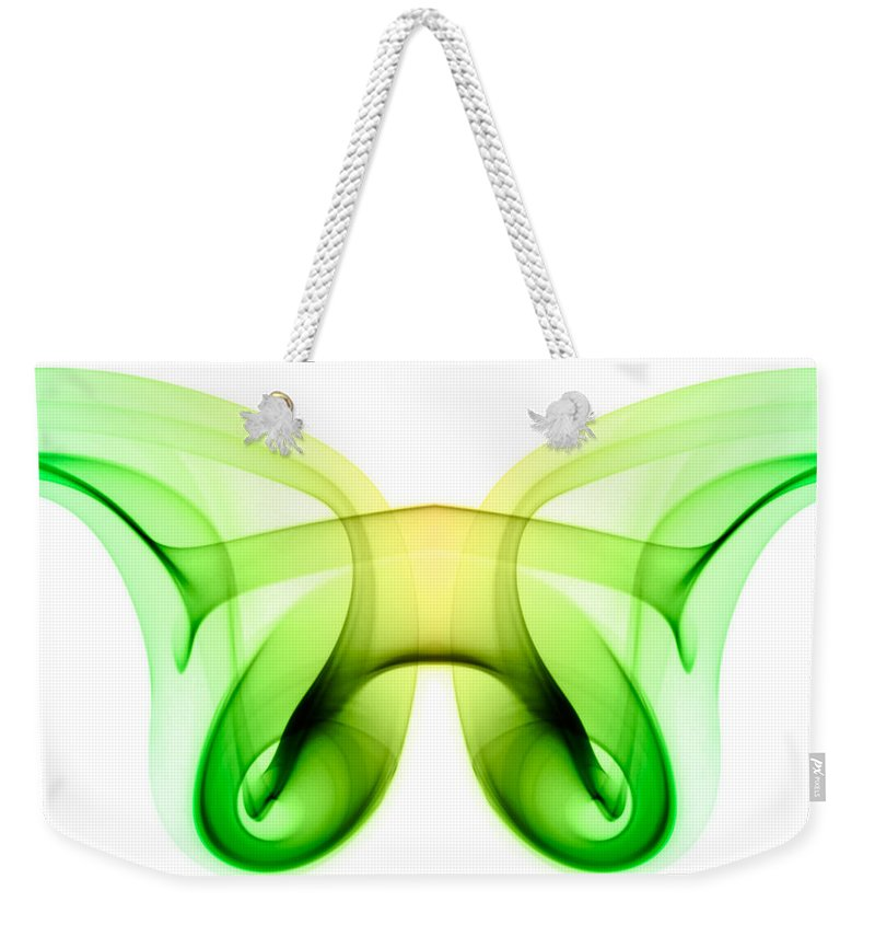 Abstract Weekender Tote Bag featuring the photograph smoke XXI ma2 by Joerg Lingnau