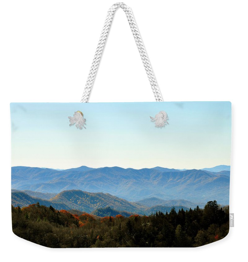 Smokey Mountain Weekender Tote Bag featuring the photograph Smokey Mountains by Brittany Horton