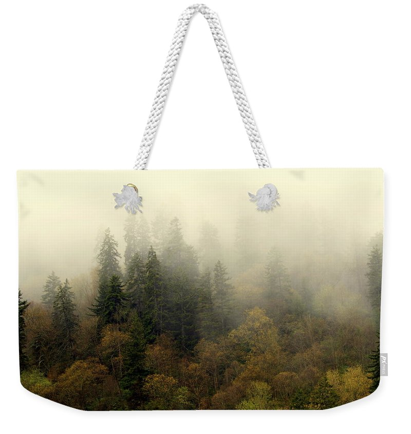 Fog Weekender Tote Bag featuring the photograph Smoky Mount Horizontal by Marty Koch