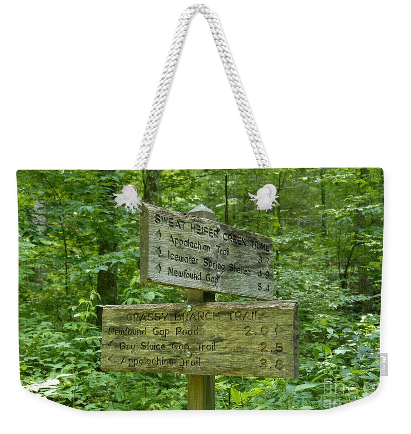 Smoky Mountain National Park Weekender Tote Bag featuring the photograph Smoky Mountain Directional by David Lee Thompson