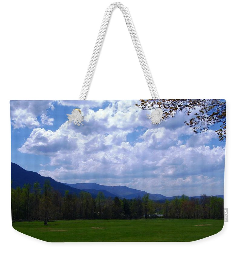 Landscape Weekender Tote Bag featuring the photograph Smoky Mountain Range by Charleen Treasures