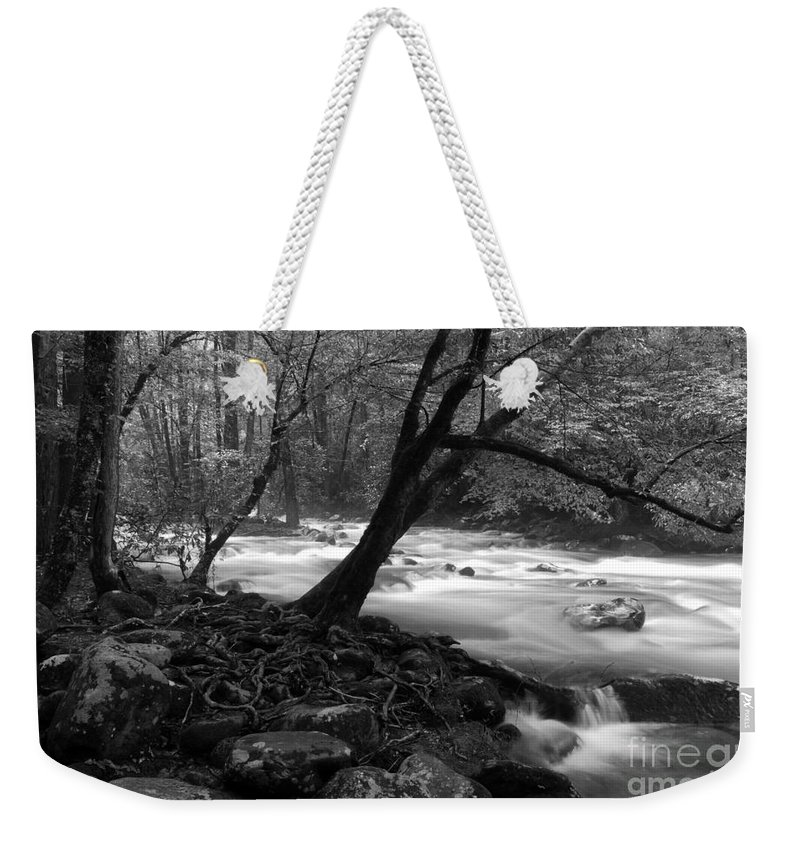 Stream Weekender Tote Bag featuring the photograph Smoky Mountain Stream by Nancy Mueller