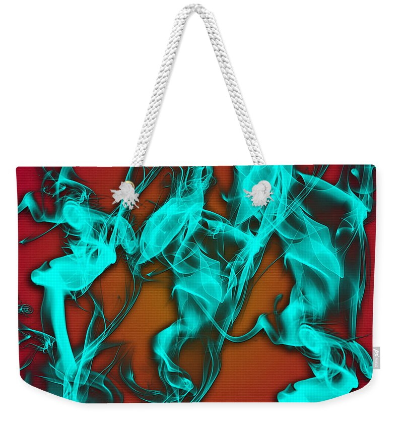 Clay Weekender Tote Bag featuring the digital art Smoky Shadows by Clayton Bruster