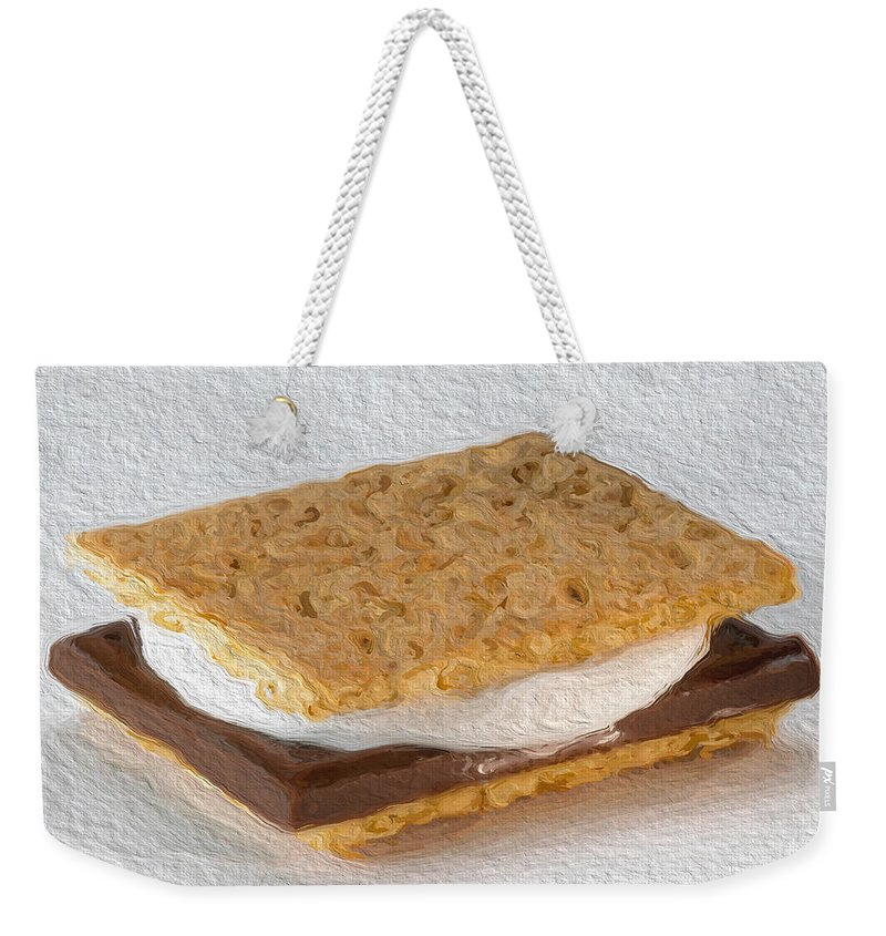 #nationalsmoresday Weekender Tote Bag featuring the photograph S'mores by Modern Art