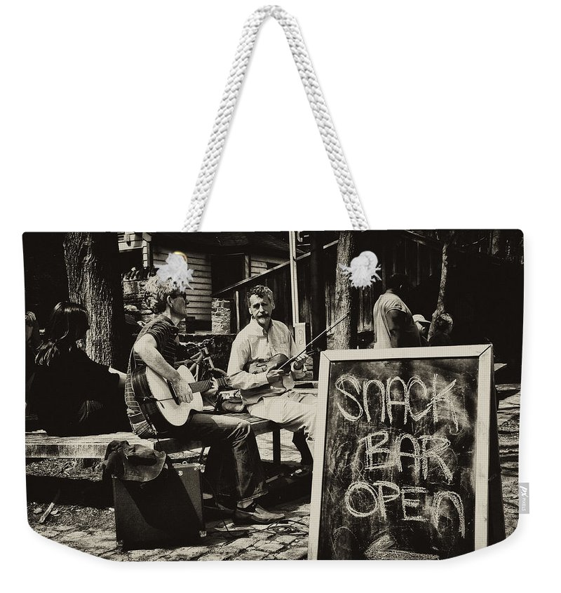 Philadelphia Weekender Tote Bag featuring the photograph Snack Bar Open by Bill Cannon