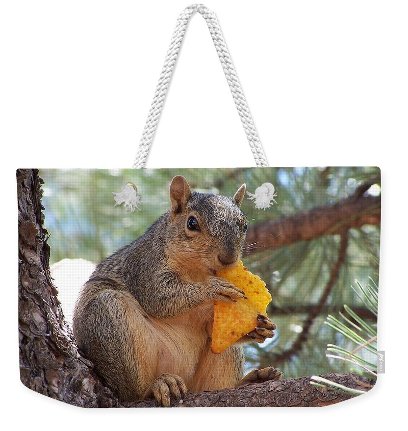Animal Weekender Tote Bag featuring the photograph Snack Time by Ernie Echols