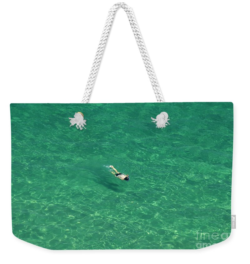Snorkeling Weekender Tote Bag featuring the photograph Snorkeling by David Lee Thompson