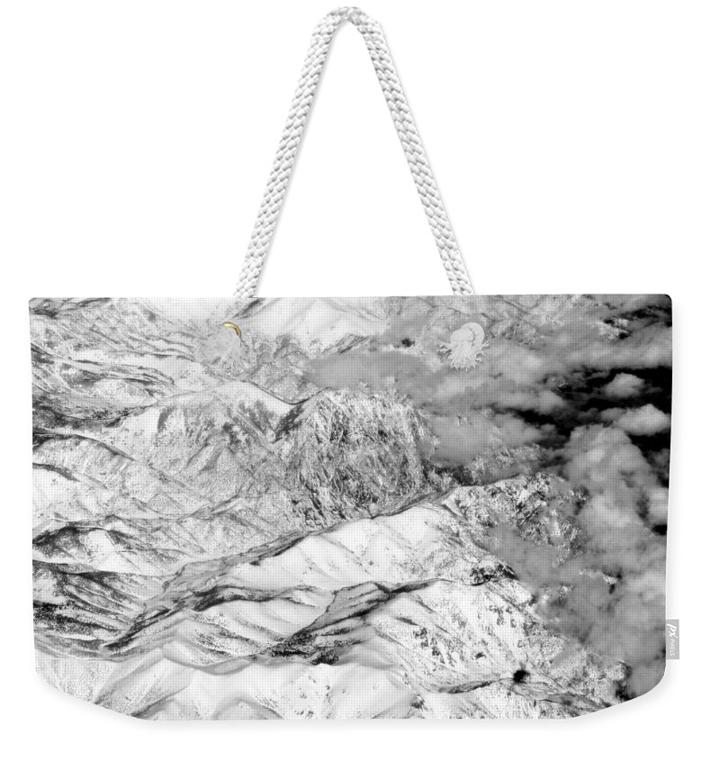 Landscape Weekender Tote Bag featuring the photograph Snow Covered by Deborah Crew-Johnson