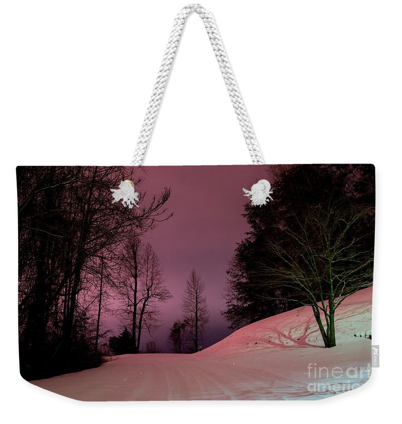 Blizzard Weekender Tote Bag featuring the photograph Snow Fog by Robert Loe