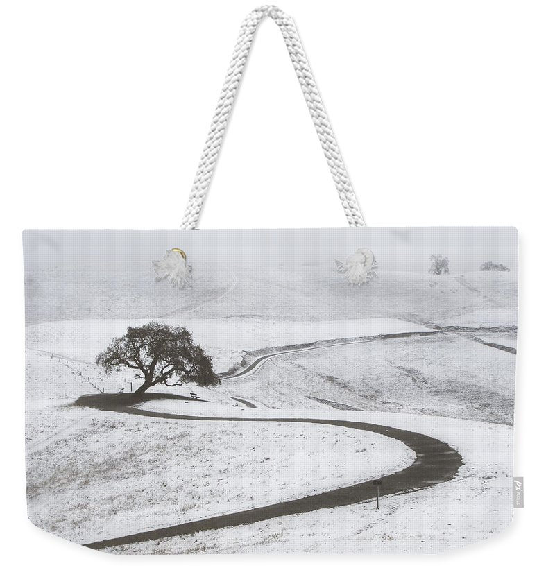 Snow Weekender Tote Bag featuring the photograph Snow Without You by Karen W Meyer