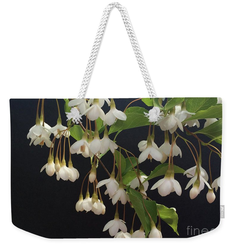 Tree Weekender Tote Bag featuring the photograph Snowbell Tree by Jacklyn Duryea Fraizer