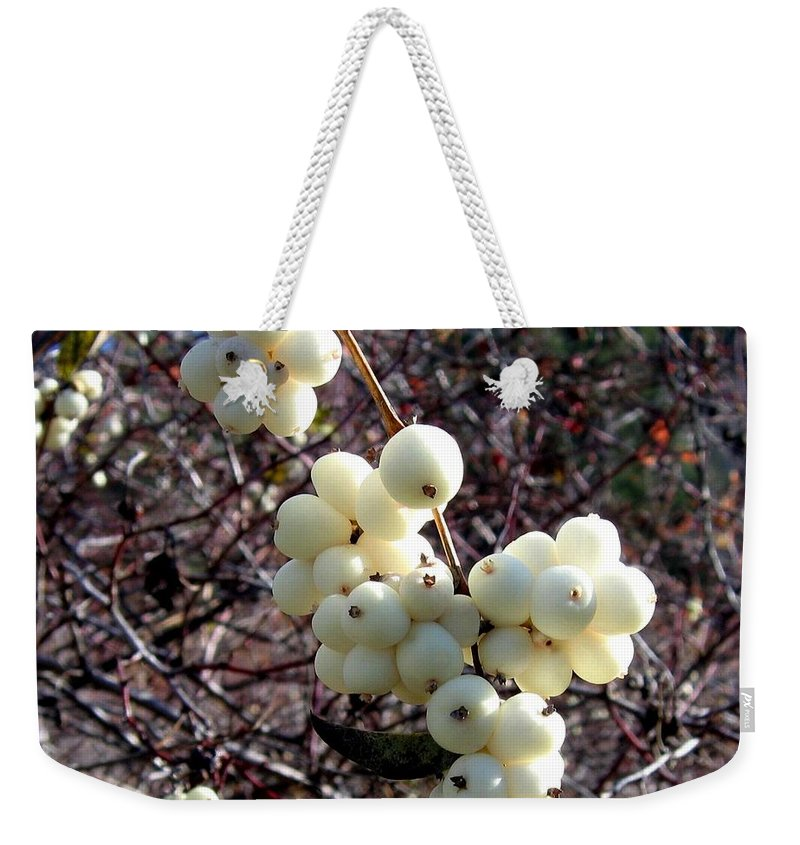 Autumn Weekender Tote Bag featuring the photograph Snowberries by Will Borden