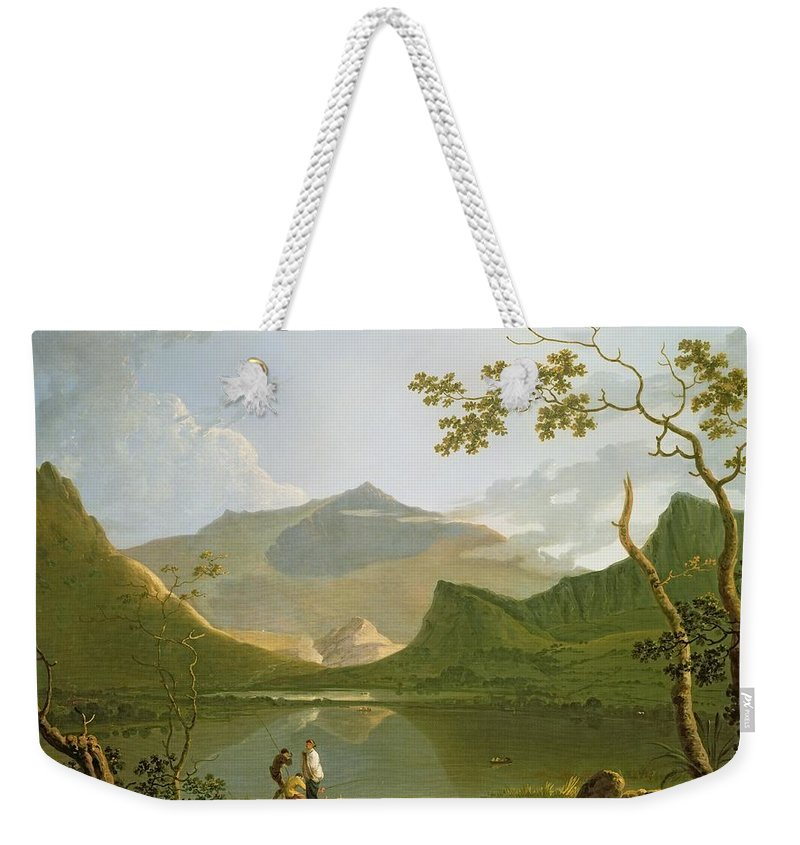 Snowdon Weekender Tote Bag featuring the painting Snowdon by Richard Wilson