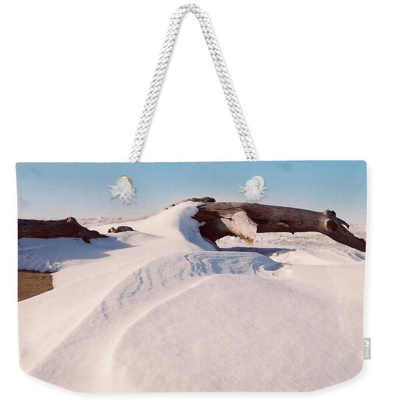 Snow Weekender Tote Bag featuring the photograph Snowdrift by Michael Peychich